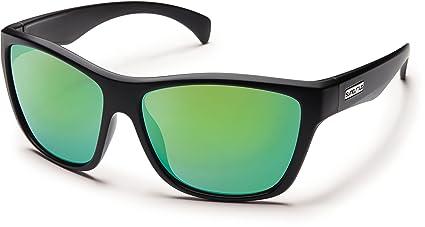 256435ed993 Amazon.com  Suncloud Wasabi Polarized Sunglasses Small Kids Size in Black    Grey  Clothing