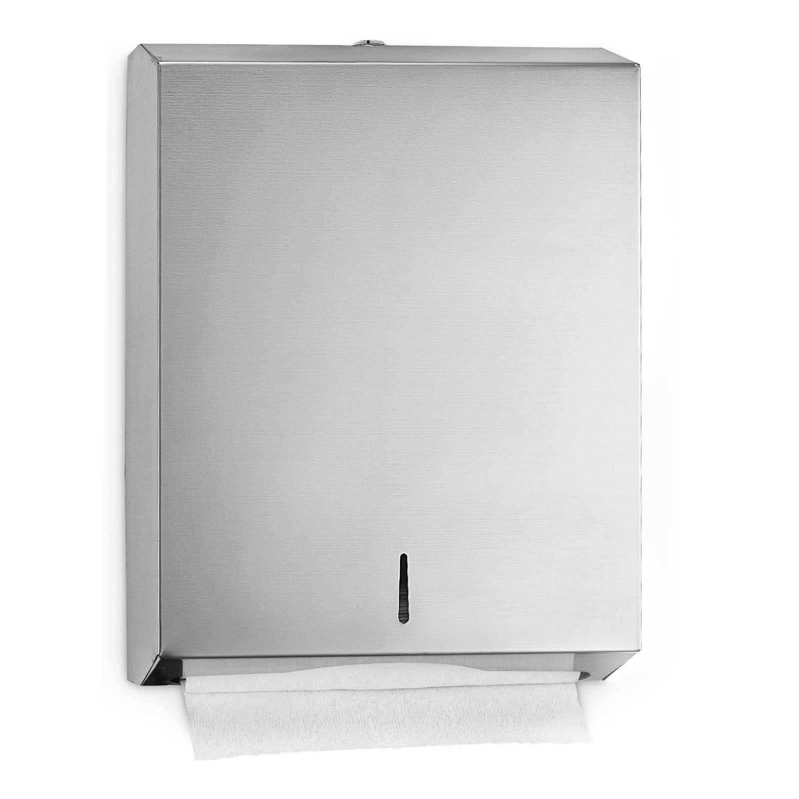 Alpine industries C-Fold/Multifold Paper Towel Dispenser - Brushed Stainless Steel - Holds Up to 400 C-Fold Or 525 Multifold Towels by Alpine Industries