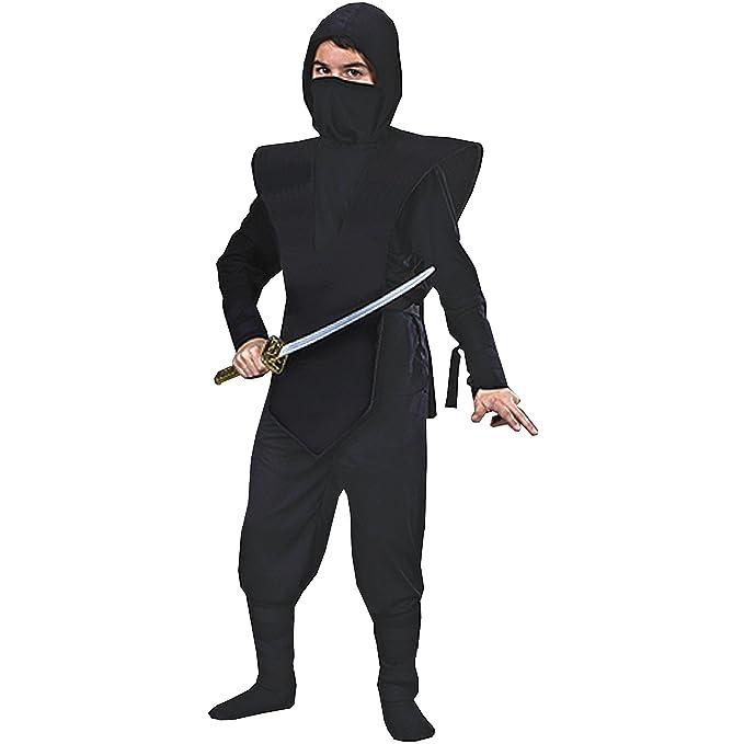 Amazon.com: Ninja Complete Child Costume Black/gold - Black ...