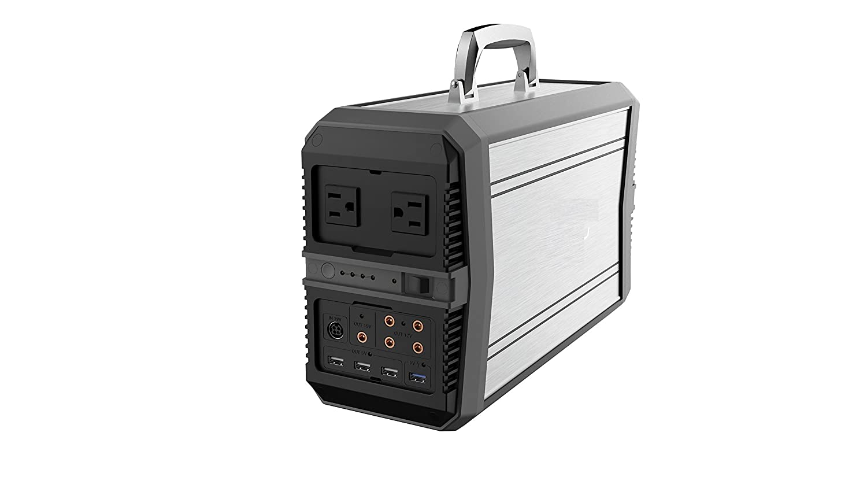 Generador portátil de 600Wh, generador silencioso de la batería de litio recargable con 220V / 2 salidas de corriente alterna de 500W, coche de 12V, ...