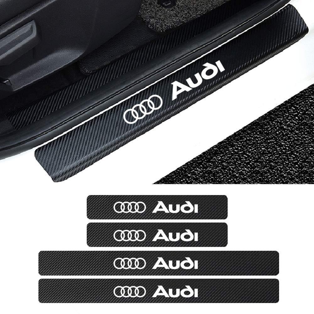 3.2cm LAUTO 4 Piezas de Fibra de Carbono antiara/ñazos Puerta del Coche alf/éizar Placa de Desgaste Panel Protector de Paso para Audi A4l A3 A6L Q5L Q3 X3,Rojo,46.5