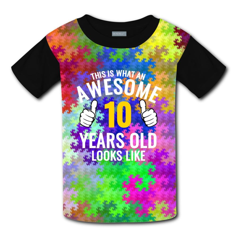 Aslgisy This is Awesome Casual T-Shirt Short Sleeve for Kids