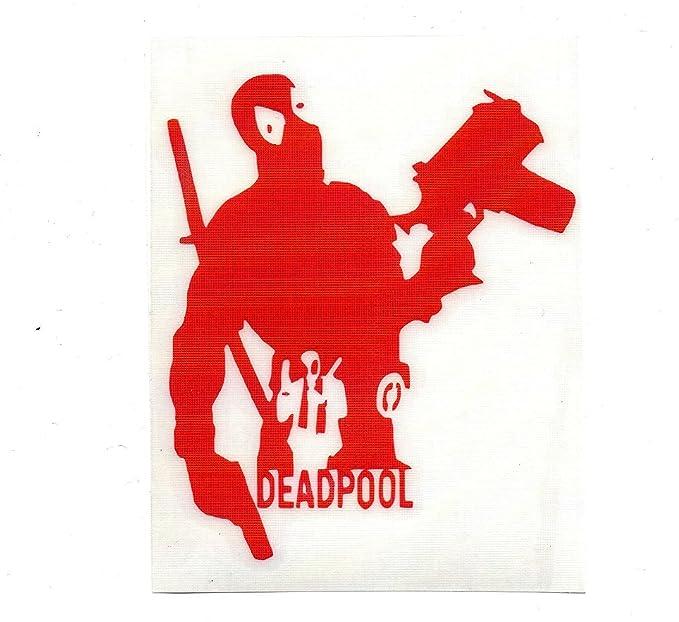 Amazon Marvel Comics Deadpool Silhouette Stickers Symbol 55