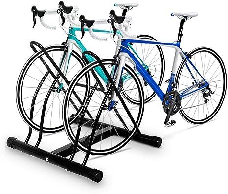 COSTWAY Aparcamiento para 2 Bicicletas para Pared o Suelo Ciclismo Soporte Metal Color Negro: Amazon.es: Deportes y aire libre