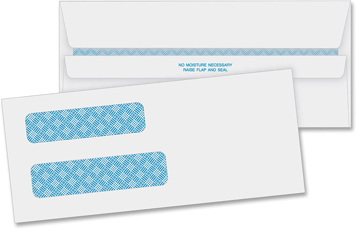 Business Source Double Window No. 8-5/8 Check Envelopes