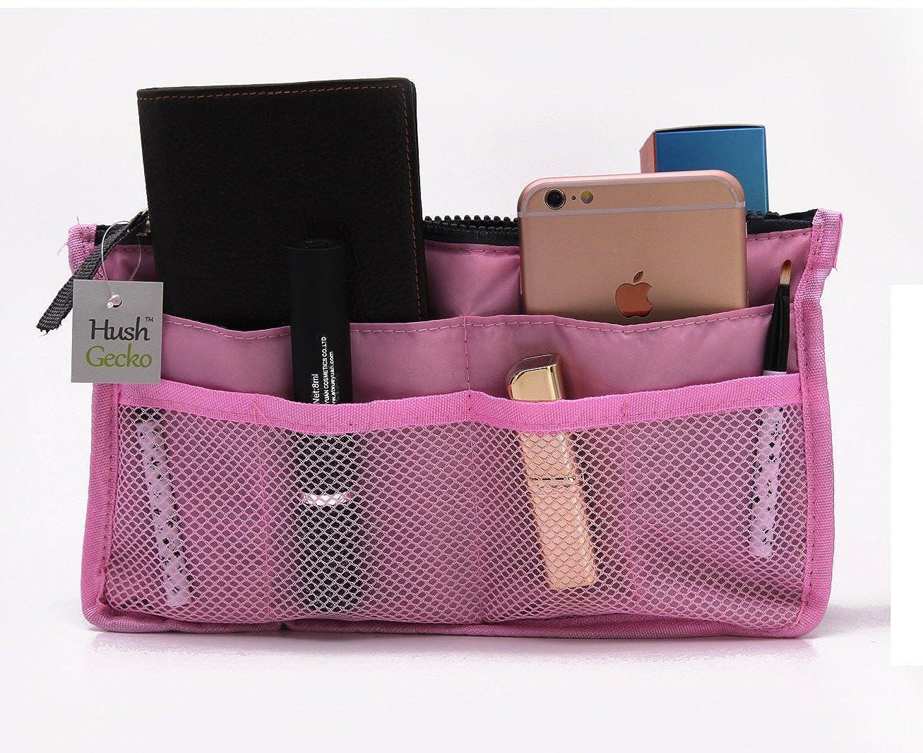 Tote Bag Insert Makeup Organizer (Pink)