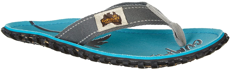 Gumbies Damen Zehentrenner - Rosa/Blau Schuhe in Uuml;bergrouml;szlig;en  45 EU|Twin Palms