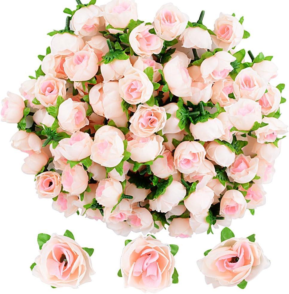 Blanc-2.5cm 200pcs Rose Artificielle Capitules Fleurs Artificielles en Mousse Artificielle Decoration pour Maison Mariage F/ête