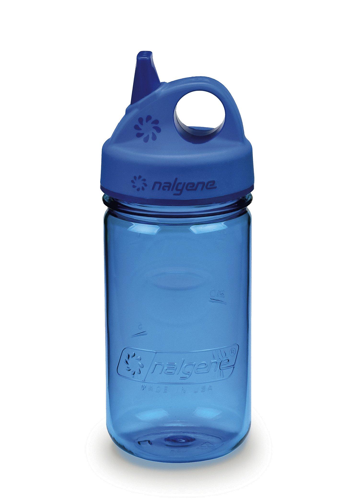 NALGENE Tritan Grip-N-Gulp BPA-Free Water Bottle,Slate Blue,12 Ounces