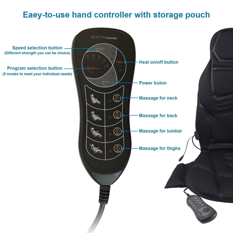 Amazon.com: Masajeador de silla, masajeador de espalda para ...