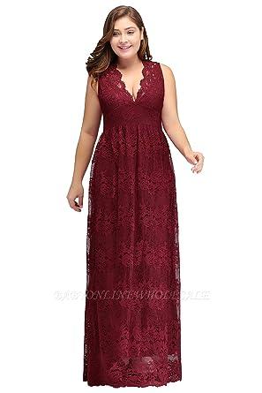 Lace Plus Size Bridesmaid Dresses Burgandy