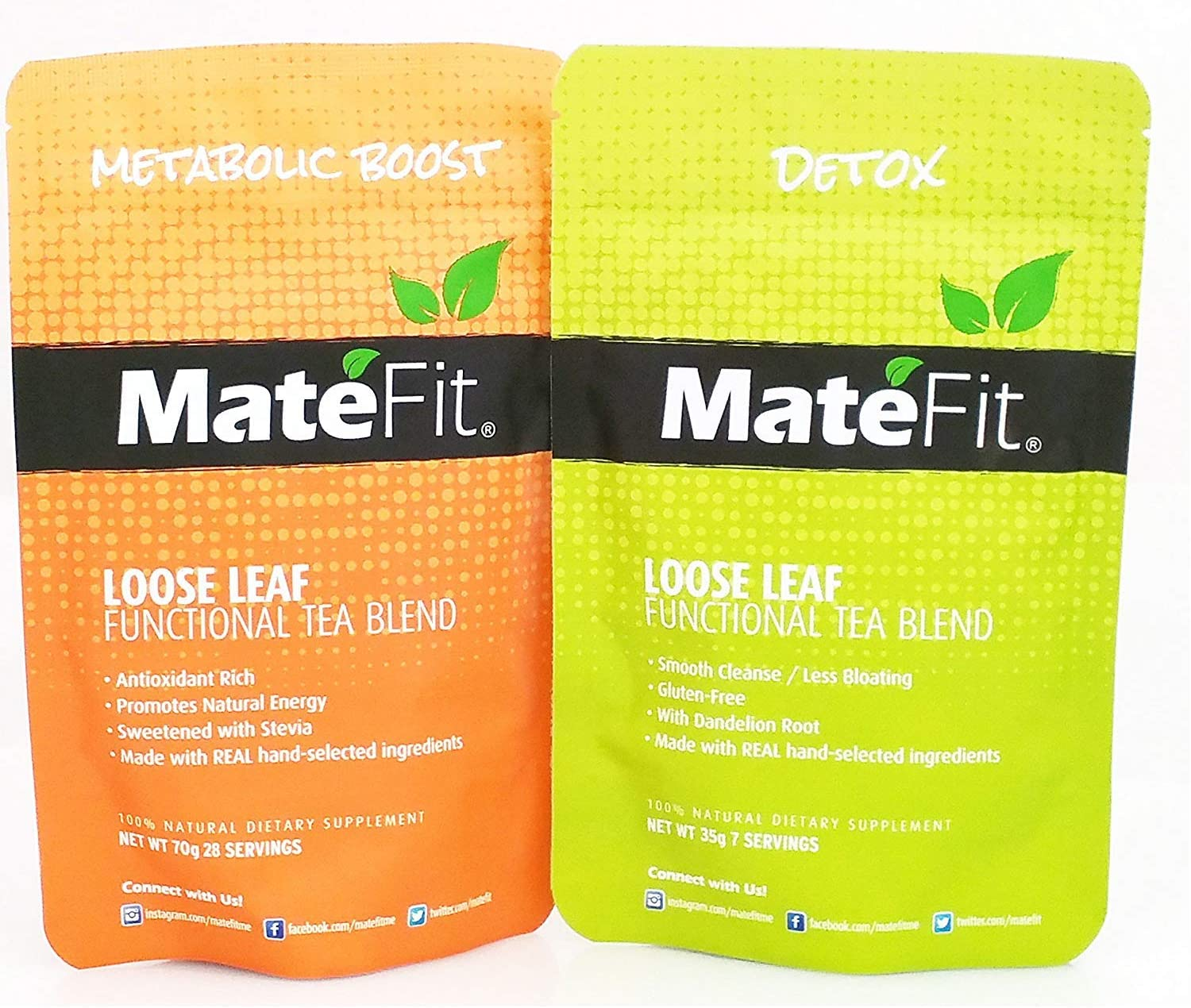 Amazon Com Matefit Me Weight Loss Suppressant Detox Tea 14 Day Teatox Health Personal Care
