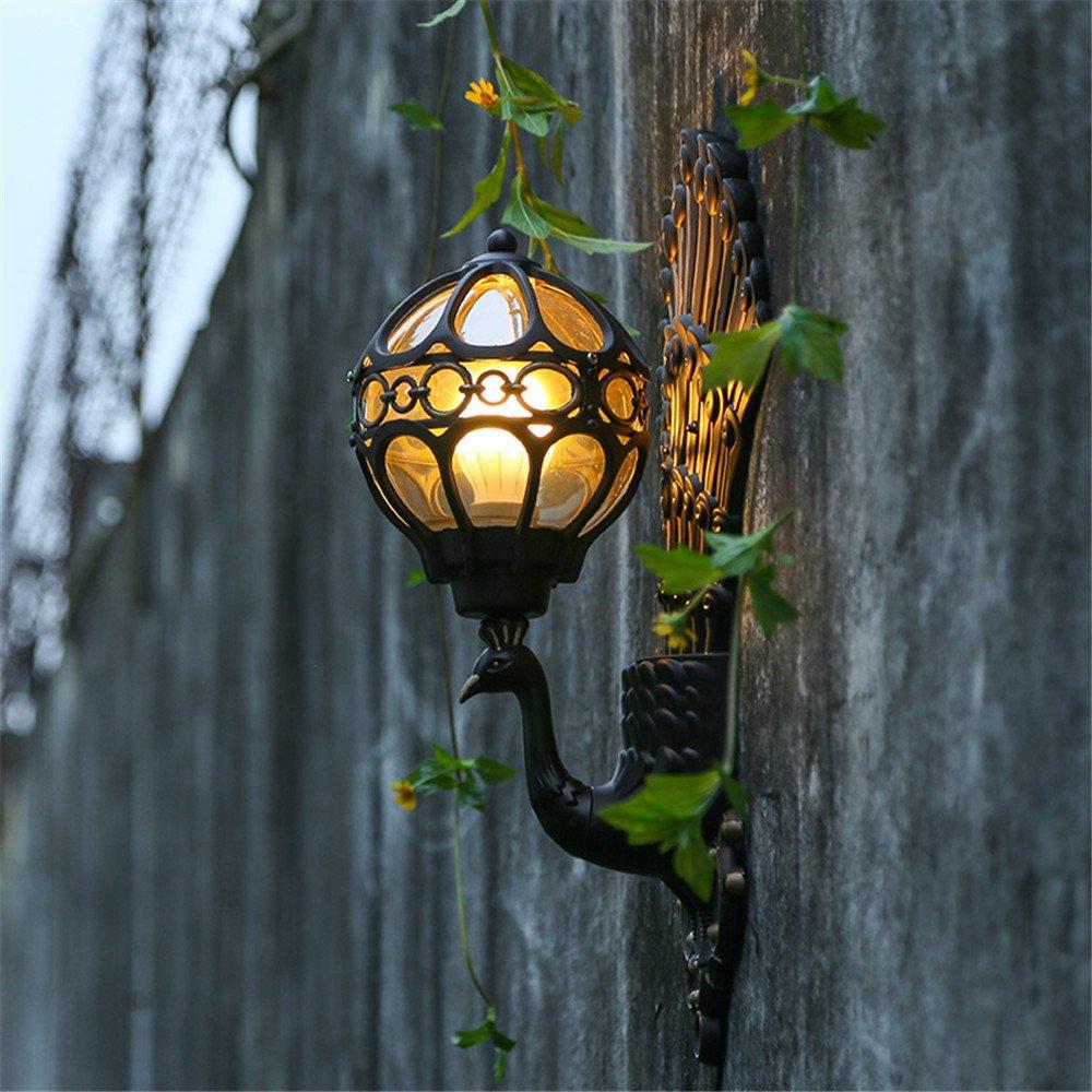 DengWu lampada da parete Continental Lampade da parete retro cortile Alluminio Lampada Hotel Villa Soggiorno balconi cinese Creative luci da parete esterna impermeabile luci da parete (315545mm)