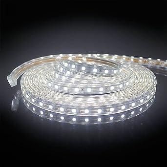 2M Tira LED Exterior SMD 5050 Luz Cadena IP65 resistente al agua fría Blanco Frío Flexible