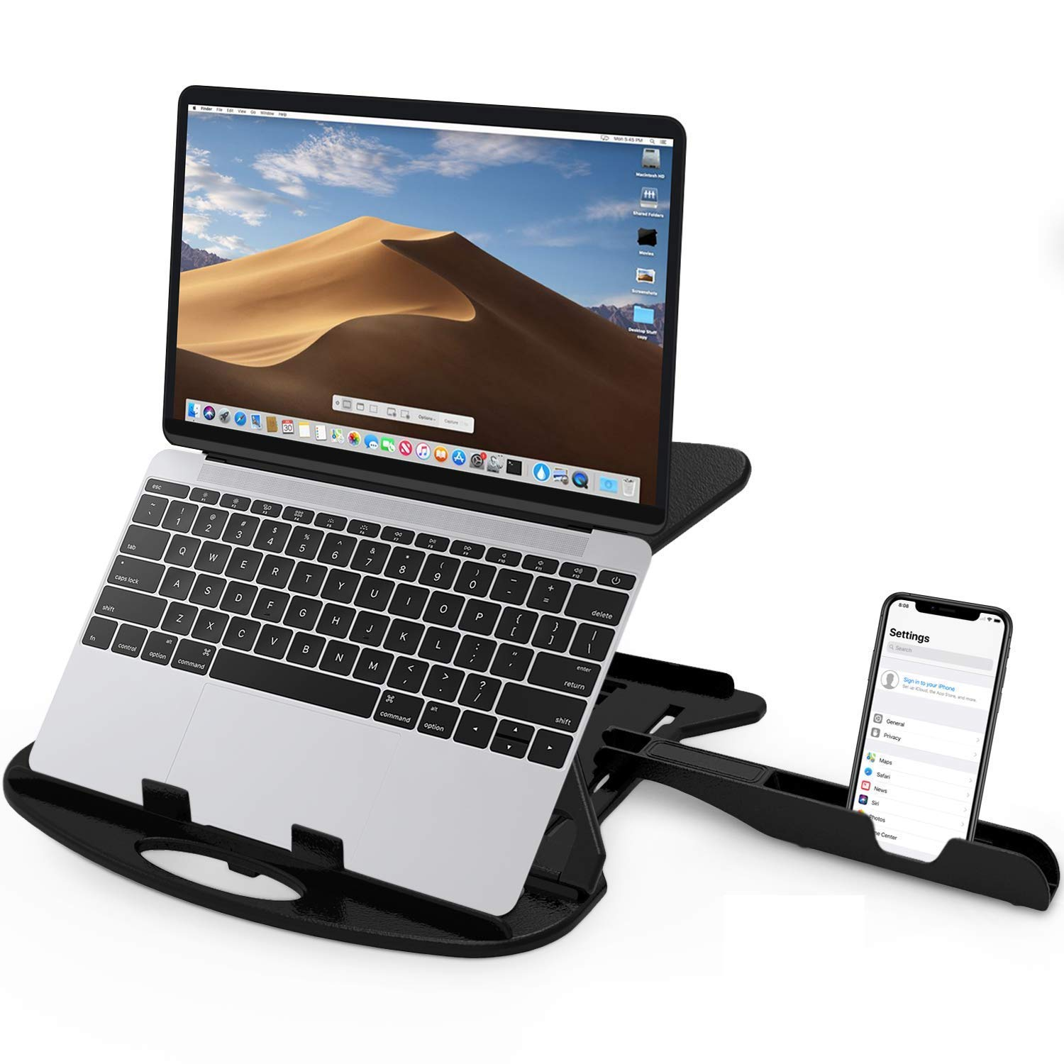 STRIFF Adjustable Laptop Stand with phone stand