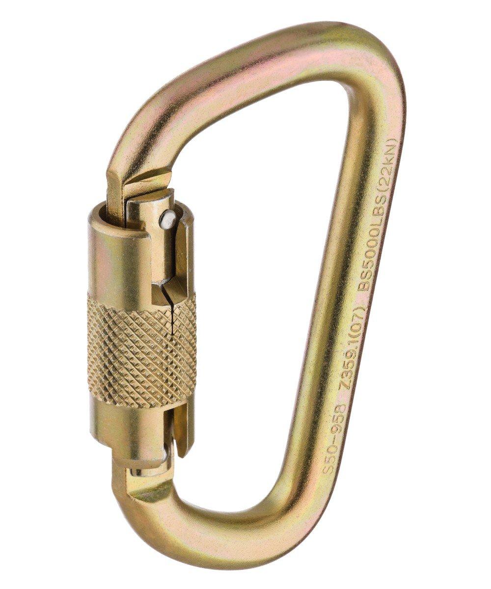 MSA (Mine Safety Appliances) 10089205 9/16'' Auto-Locking Steel Carabiner, English, 9.5108 fl. oz., Plastic, 11.97'' x 7.05'' x 0.79''