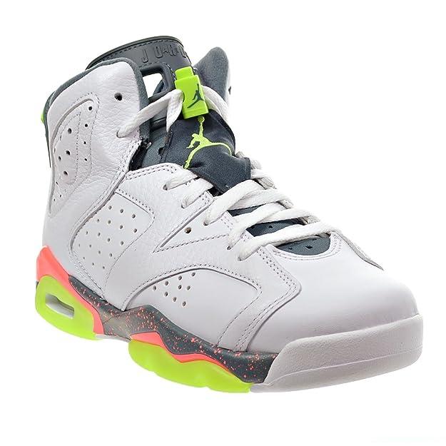 new concept 05d05 44999 Amazon.com   Jordan Air 6 Retro BG Big Kid s Shoes White Ghost Green Hasta Bright  Mango 384665-114 (4.5 M US)   Basketball