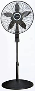 """Lasko - S18965 18"""" Pedestal Fan With Remote - 4 Speed With Thermostat - Metal Grill (461667)"""