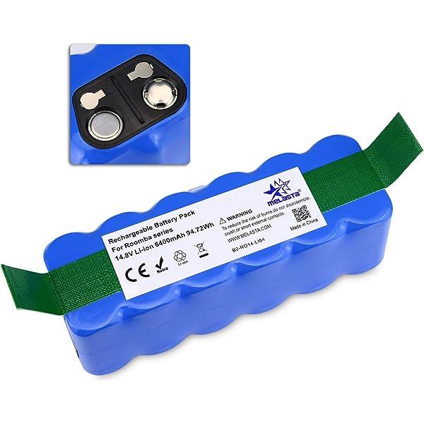 6400mAh iRobot Roomba Batería de Litio(Li-ion) para iRobot Roomba ...