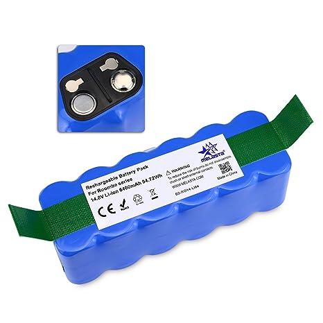 Batería de Repuesto 14,8V 6400mAh Li-ion para iRobot Roomba 500 600 700
