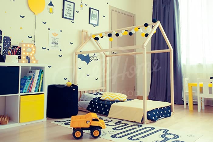Amazon Com House Bed Frame Full Or Queen Toddler Bed Cabin Bed