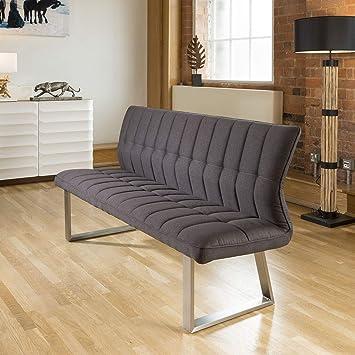 Avant Garde Quatropi 3 Seater Stylish Padded Dining Bench Charcoal