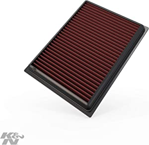 K&N Engine Air Filter: High Performance, Premium, Washable, Replacement Filter: 2007-2019 Nissan/Infiniti L4/V6/V8 (Sentra, Juke, Pulsar, Micra, Q50, Q60, Q70, QX70), 33-2409