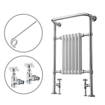 ENKI radiador para calefacción central toallero doble combustible 963 x 583 mm