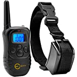 Esky 330 Yards Remote Training E-collar Rechargeable and Waterproof Dog Training Collar for 1 Dog with Safe Beep, Vibration and Shock Electronic Electric Collar for Medium or Large Dog Trainer with Newly Upgraded-Blue Backlight Screen