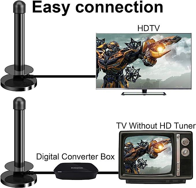 TV Antena Digital Portátil con Base Magnética, para TDT y DVB-T Sintonizador de TV PC Mac