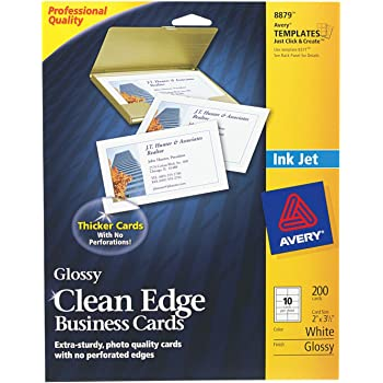 Amazon Com Avery Clean Edge Business Cards For Inkjet Printers