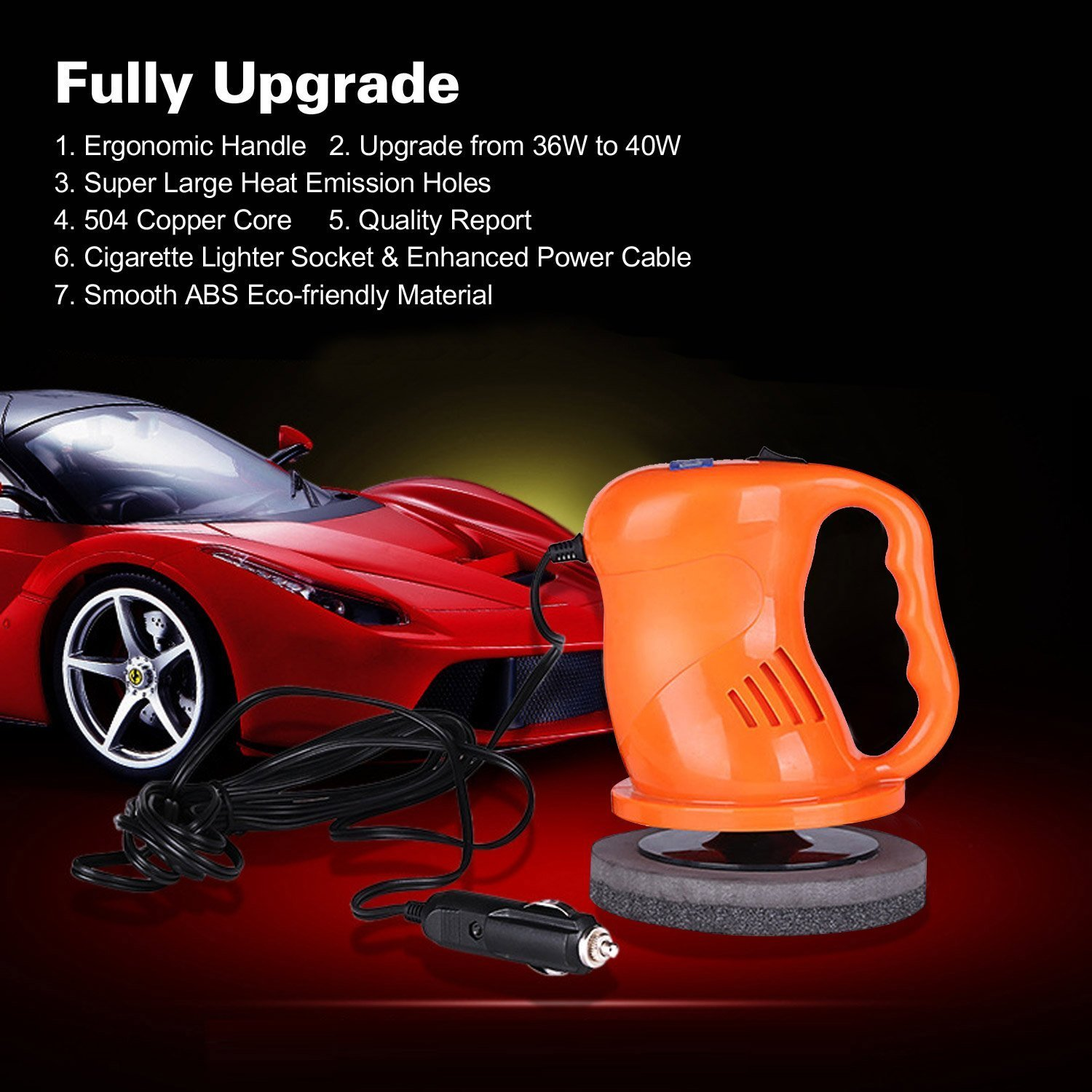 AUTOPDR Car Polishers and Buffers 12V 40W Car Waxing Waxer/Polisher Machine Car Gloss For Car Paint Vehienlar Electric by AUTOPDR (Image #3)