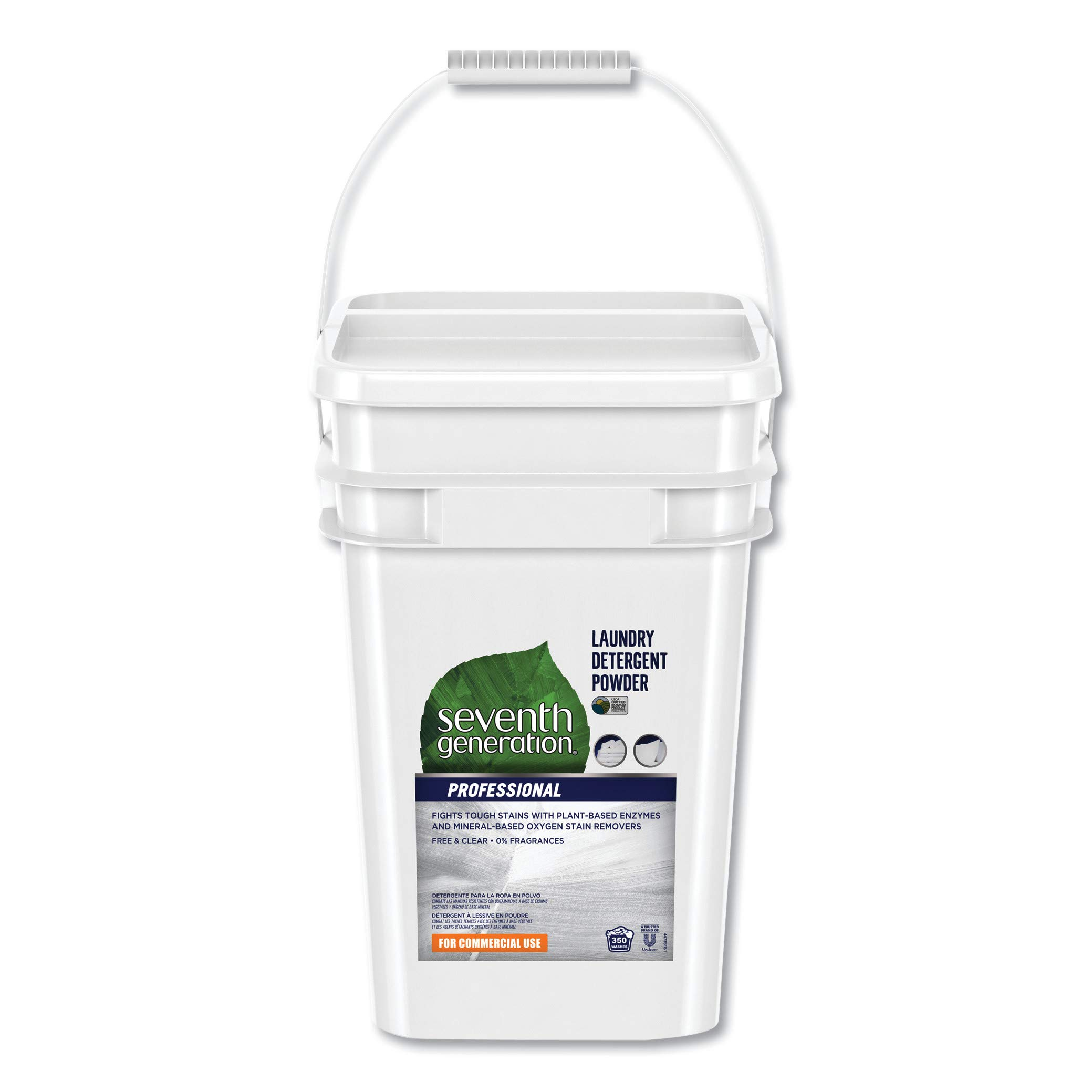 Seventh Generation Professional Free and Clear Powdered Laundry Detergent, 35-Lb Pail by Seventh Generation (Image #1)