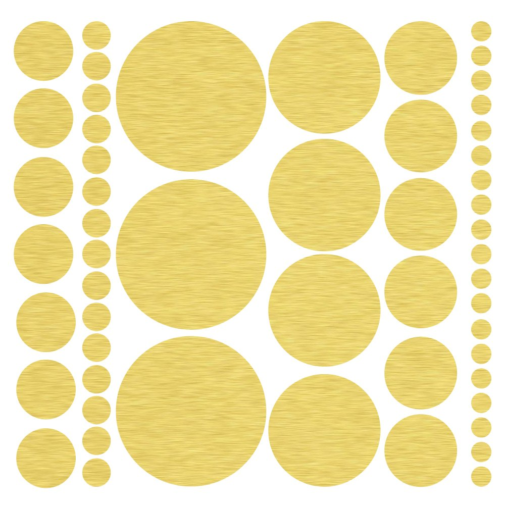 Amazon.com: (317) Assorted Size Gold Polka Dot Decals ...