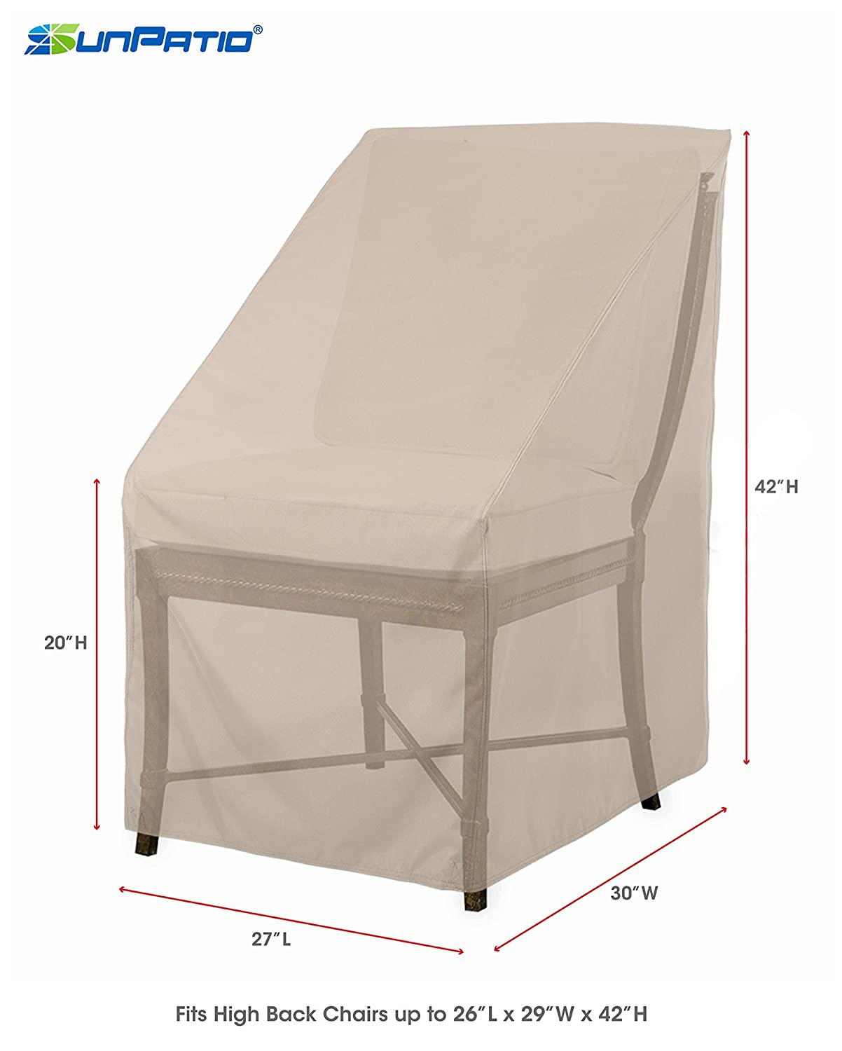 covers for patio furniture. Waterproof Outdoor High Back Chair Cover Patio Furniture Protection Garden Beige Covers For R
