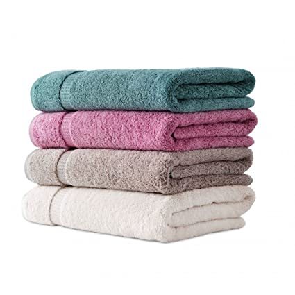 Fresh from Loom 450 GSM Cotton Bath Towel (4 Bath Towel) - 450 GSM