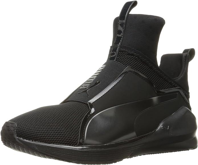 Puma Fierce Core Sneakers Trainingsschuhe Damen Schwarz mit Schwarzen Streifen