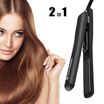 75244f0c473 Amazon.com   BESTBOMG Professional Ionic Flat Iron Worldwide Dual ...