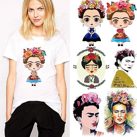 Argonv Frida Kahlo Patch para Ropa Adhesivo Transferencia Plancha ...