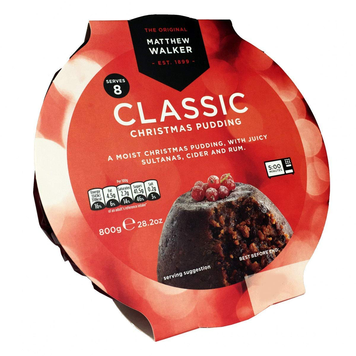 Matthew Walkers Classic Christmas Pudding - 800g - 28.2oz