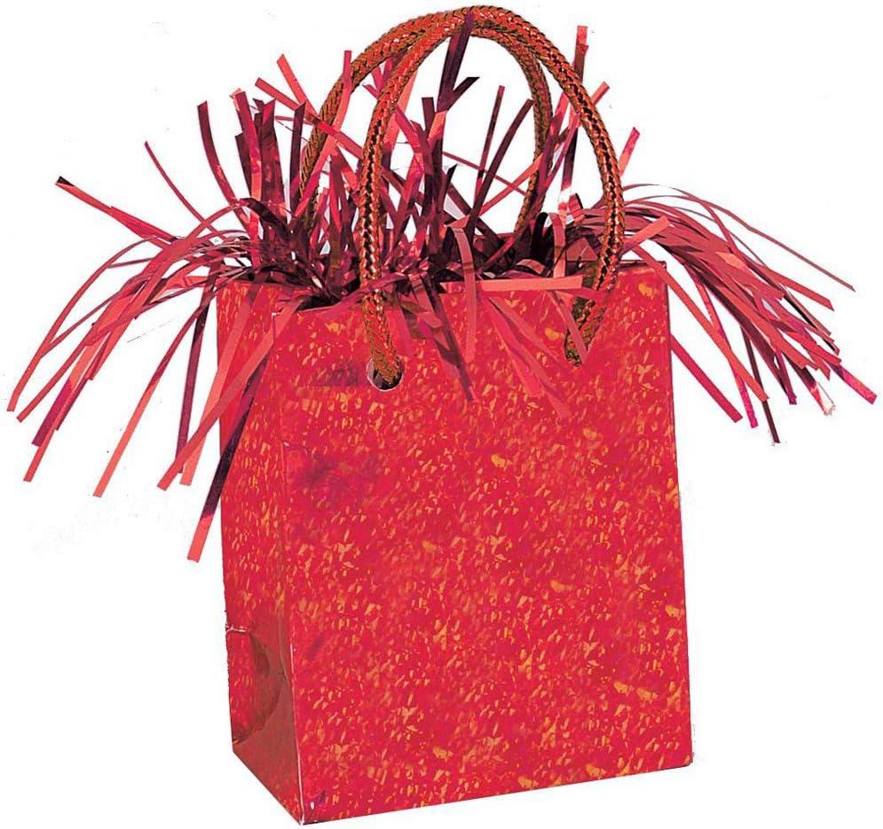 Unique Party 49010 Poids /à Ballon en Forme de Sac Cadeau Rouge