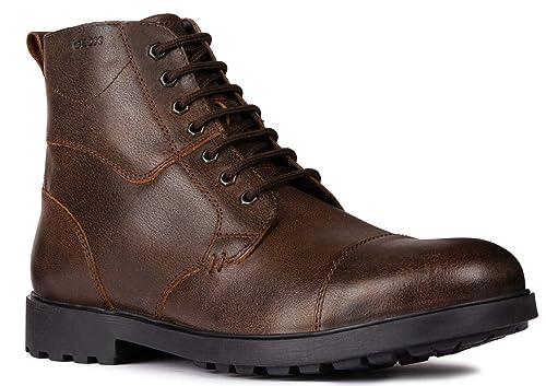 Geox U845HE - Botines de caño bajo de Cuero Hombre: Amazon.es: Zapatos y complementos