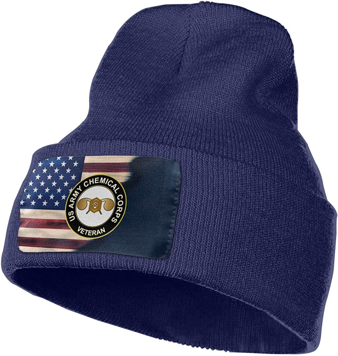 FORDSAN CP US Army Chemical Corps Mens Beanie Cap Skull Cap Winter Warm Knitting Hats.