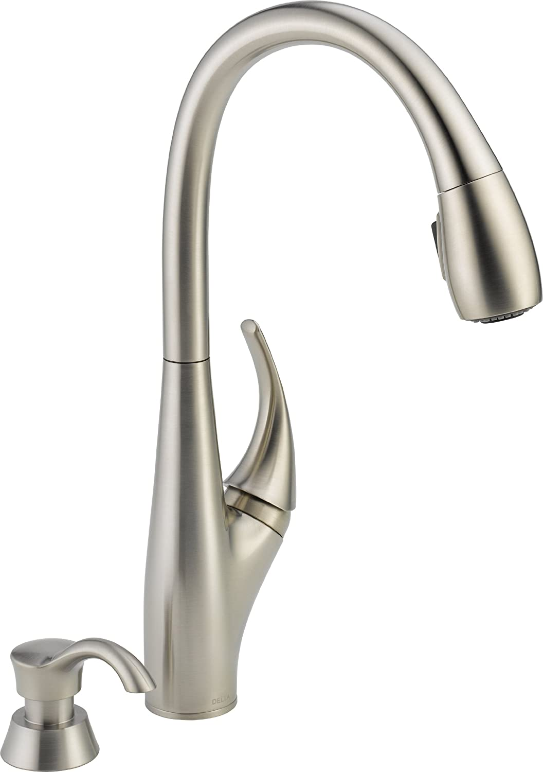 Delta Faucet 19912-SSSD-DST Deluca Single Handle Pull-Down Kitchen Faucet, Stainless