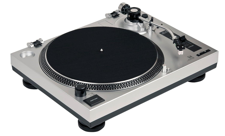 Dual DTJ 301 USB Tocadiscos para DJ (33/45 U/min, control de velocidad, sistema fonocaptor magnético, iluminación de agujas, cable USB), color