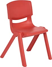 Amazonbasics 12 Inch School Classroom Stack Resin Chair, Red, 6-Pack