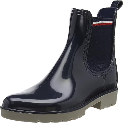 Tommy Hilfiger O1285laya 1r , Damen wellington boots, Blau