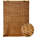 Reed curtain Natural, Bamboo Roller Blinds,Natural Environmental Protection Material,Vintage Bamboo Roller Blind with…