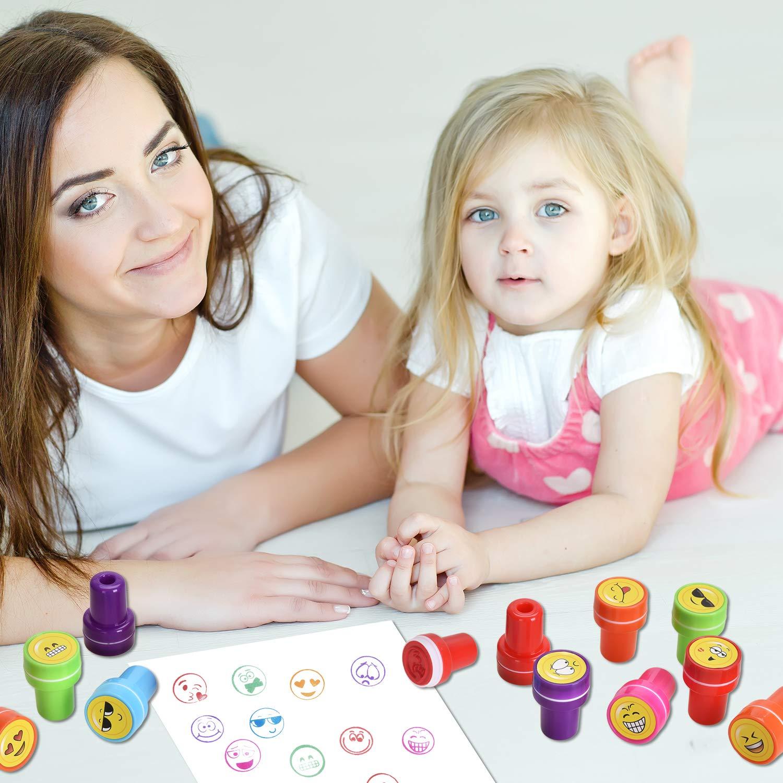 Niedliche Spielzeugstempel aus Plastik f/ür Spiel Willingood Emoji Tiere 26 St/ück Hobby und mehr Spa/ß