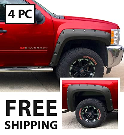 Premium Fender Flares for 2007-2014 Chevy Silverado (NOT for 68
